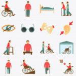 Varios dibujos relativos a los distintos tipos de discapacidad