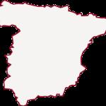 Icono silueta España rojo