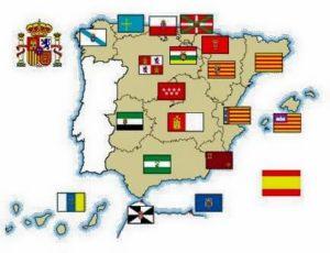 mapa de España con las comunidades autónomas