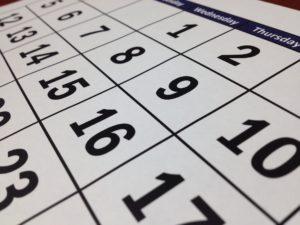 Imagen de un mes de un calendario