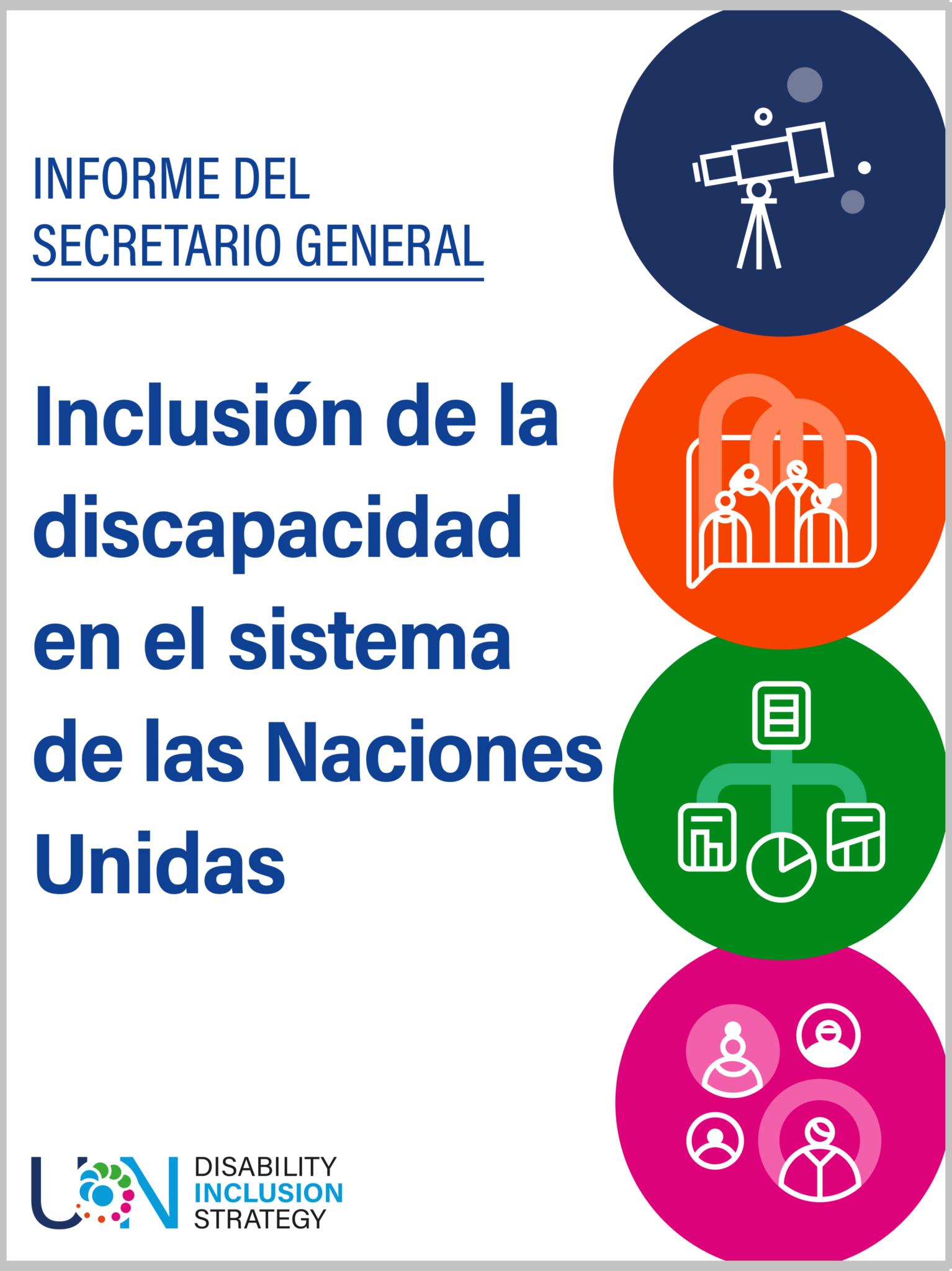 informe del secretario inclusión de la discapacidad en el sistema de las Naciones Unidas