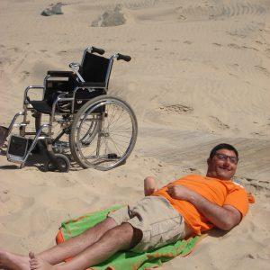 Momento de relajacion en la playa en las vacaciones (Foto presentada a la edición 8 del  Concurso de Fotografía Digital del INICO - Fundación Grupo Norte)