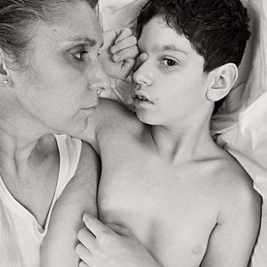 Es una serie de Autorretratos que hice   este verano con Víctor, mi hijo de diez  años con Parálisis Cerebral profunda, es un ser extraordinario al   que adoro. (Foto presentada a la edición 8 del  Concurso de Fotografía Digital del INICO - Fundación Grupo Norte)