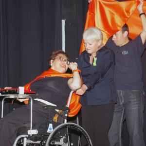 Una foto del festival de teatro realizado por la asociación ADIPSA de esta localidad (Foto presentada a la edición 8 del  Concurso de Fotografía Digital del INICO - Fundación Grupo Norte)