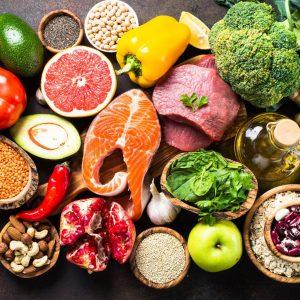 foto con muchos alimentos distintos