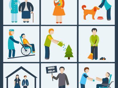 servicios sociales dibujo